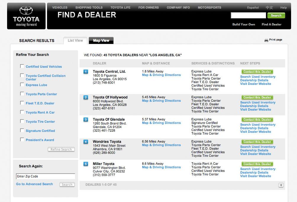 Toyota Dealer Locator